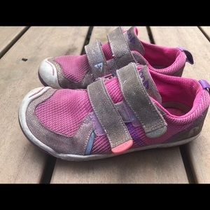 Plae 102022-651 Girl's Pink Gray sneakers Size 13